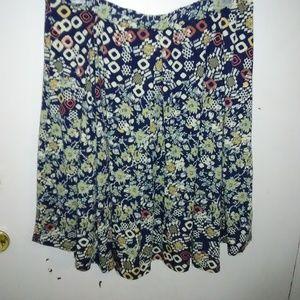NWT Plus Size LulaRoe Floral Madison skirt.